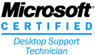 Logo Microsoft Certified Support Desktop Technician